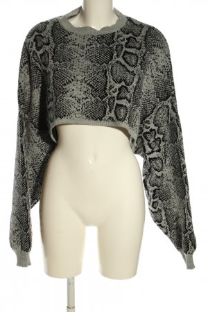 Boohoo Fine Knitted Cardigan light grey-black allover print casual look
