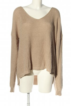 Boohoo Crochet Sweater cream cable stitch casual look