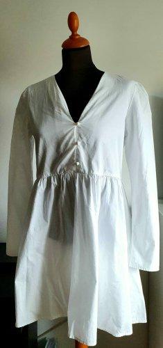 Boohoo Peplum Dress white