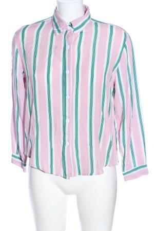 Boohoo Hemd-Bluse Streifenmuster Casual-Look
