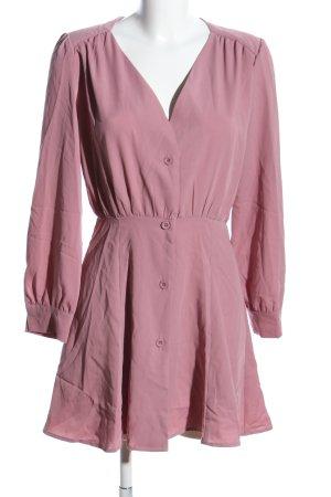 Boohoo Hemdblusenkleid pink Casual-Look