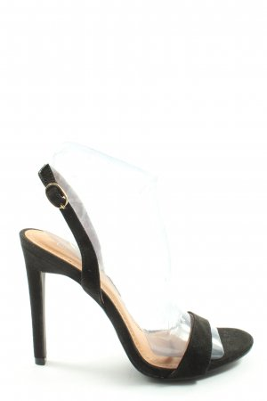 Boohoo Hoge hakken sandalen zwart elegant