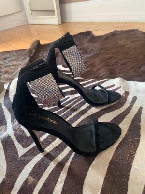 Boohoo High Heel Sandaletten mit Strass