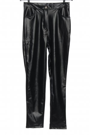 Boohoo High-Waist Hose schwarz Casual-Look