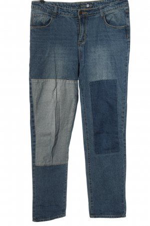 Boohoo Hoge taille jeans blauw casual uitstraling