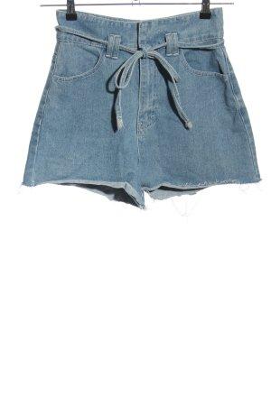 Boohoo High-Waist-Shorts blau Casual-Look