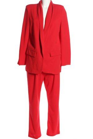 Boohoo Garnitur damski czerwony W stylu biznesowym