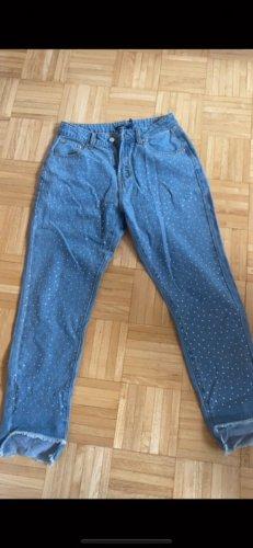 Boohoo Hoge taille jeans veelkleurig