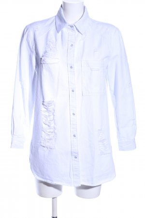 Boohoo Denim Shirt white casual look