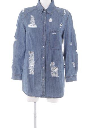 Boohoo Jeanshemd blau Casual-Look