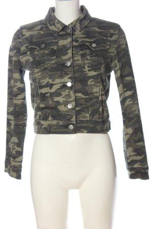 Boohoo Jeansjacke khaki-hellgrau Camouflagemuster Casual-Look