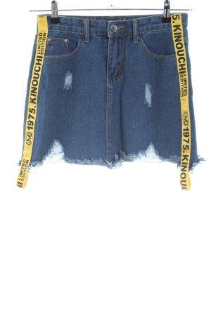 Boohoo Jupe en jeans lettrage imprimé style décontracté