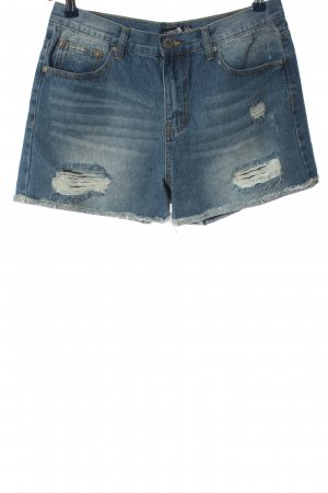 Boohoo Denim Shorts blue casual look