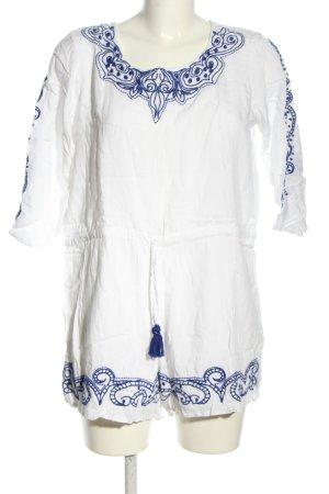 Boohoo Combinaison blanc-bleu motif graphique style décontracté