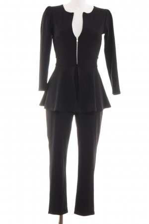 Boohoo Jumpsuit schwarz Business-Look