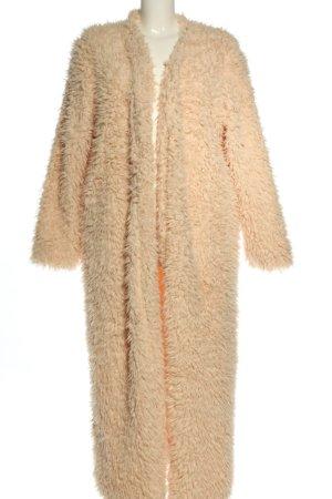 Boohoo Giacca in eco pelliccia arancione chiaro stile casual