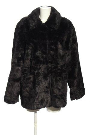 Boohoo Giacca in eco pelliccia nero elegante