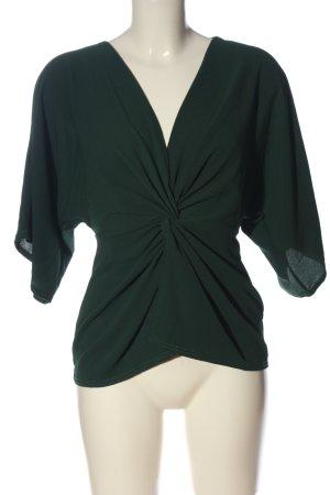 Boohoo Kurzarm-Bluse grün Business-Look