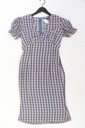 BOOHOO Kurzarmkleid Größe 36 blau aus Polyester