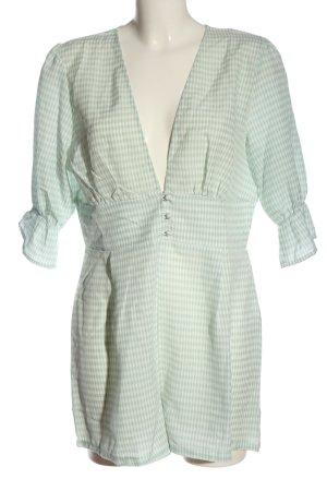 Boohoo Kurzer Jumpsuit verde-bianco stampa integrale stile casual