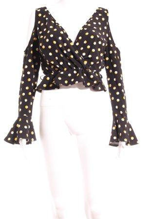 Boohoo Langarm-Bluse mehrfarbig Casual-Look