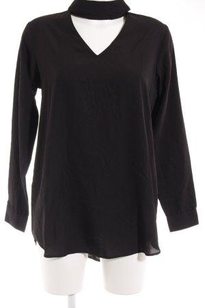 Boohoo Langarm-Bluse schwarz Elegant