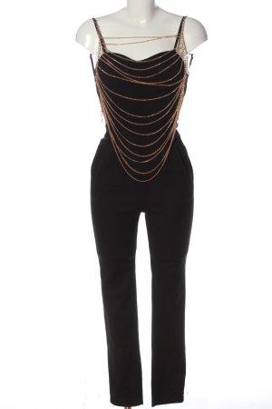 Boohoo Langer Jumpsuit nero puntinato elegante