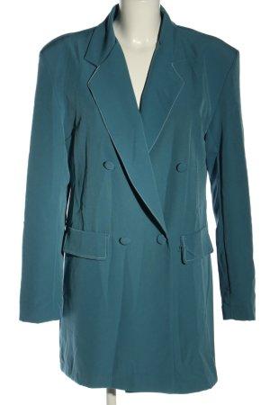 Boohoo Long-Blazer blau Business-Look