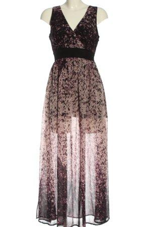 Boohoo Robe longue noir-rose gradient de couleur élégant