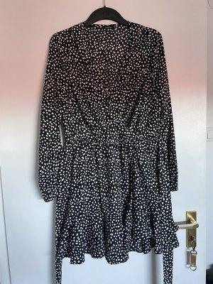 Boohoo Mini-jurk zwart-wit