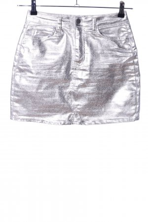 Boohoo Miniskirt silver-colored casual look