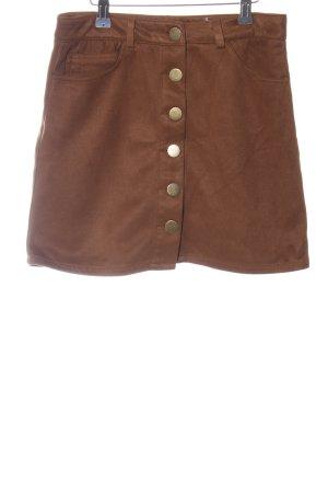 Boohoo Minifalda marrón look casual