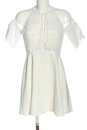 Boohoo Robe dos-nu blanc style décontracté