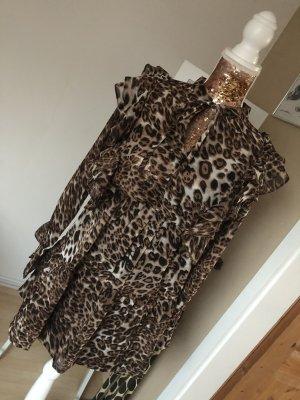 Boohoo - Neues Minikleid mit Rüschen und Leopardenmuster
