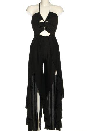 Boohoo night Langer Jumpsuit zwart casual uitstraling