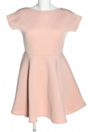 Boohoo night Mini-jurk roze-zwart casual uitstraling