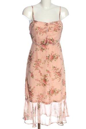 Boohoo night Trägerkleid pink-khaki Blumenmuster Casual-Look