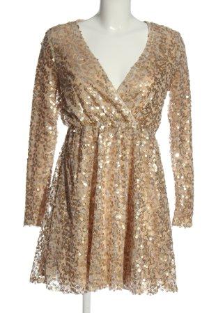 Boohoo Vestido de lentejuelas color oro elegante