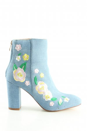 Boohoo Reißverschluss-Stiefeletten blau Casual-Look