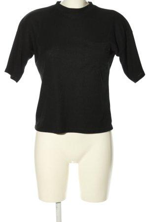 Boohoo Rippshirt schwarz Casual-Look