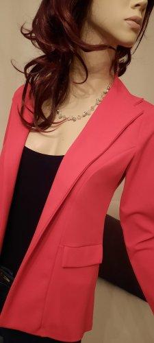Boohoo - roter klassischer Blazer ohne Verschluss