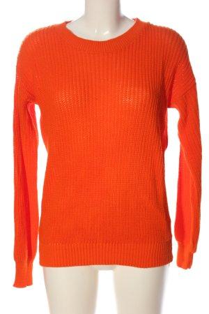 Boohoo Maglione girocollo arancione chiaro stile casual