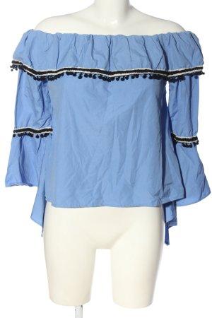 Boohoo Slip-over blouse blauw elegant