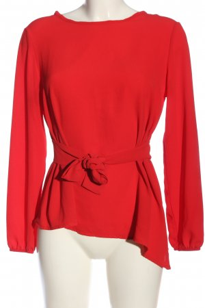 Boohoo Schlupf-Bluse rot Casual-Look