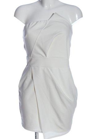 Boohoo schulterfreies Kleid weiß Casual-Look