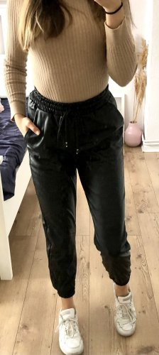 Boohoo Pantalone in pelle nero