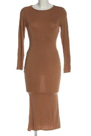 Boohoo T-shirt jurk bruin casual uitstraling