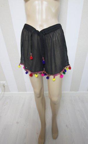 Boohoo Shorts Hose Pom Pom Bommel transparent