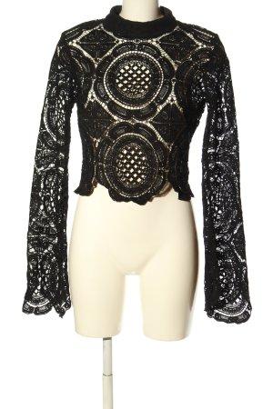 Boohoo Blusa in merletto nero stile casual