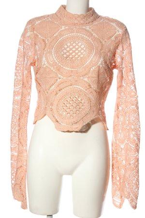 Boohoo Spitzenbluse pink Casual-Look